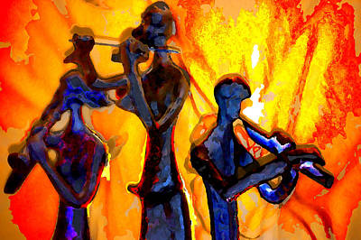 Fire Music Poster by Danielle Stephenson