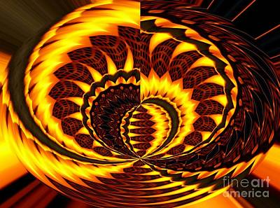 Fire Polar Coordinates Effect Poster by Rose Santuci-Sofranko