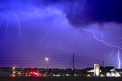 Fire Rescue Station 67  Lightning Thunderstorm Poster