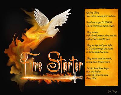 Fire Starter Poem Poster by Jennifer Page