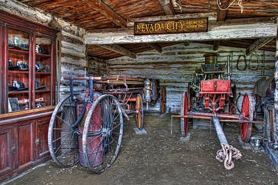 Firefighting Engine Company No. 1 - Nevada City Montana Ghost Town Poster