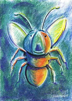 Firefly For Children Pastel Chalk Drawing Poster by Frank Ramspott
