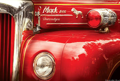 Fireman - An Old Fire Truck Poster by Mike Savad