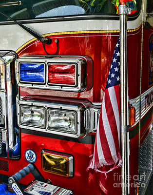 Fireman - Fire Truck Poster by Paul Ward