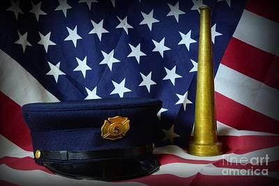 Fireman - American Hero Poster by Paul Ward