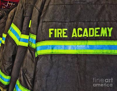 Fireman Jackets Poster by Skip Nall