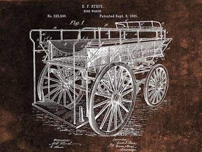 Fireman's Wagon Patent Poster by Dan Sproul