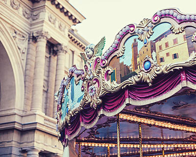 Poster featuring the photograph Firenze Carousel by Melanie Alexandra Price