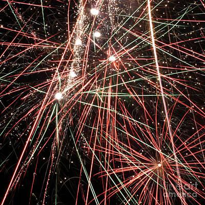 Fireworks 4 Poster by Balanced Art