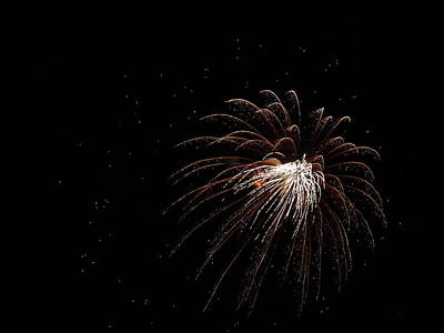 Fireworks From A Boat - 3 Poster by Jeffrey Peterson
