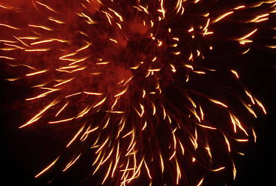 Fireworks Light Up The Sky While Celebrating Bastille Day Poster by Sami Sarkis