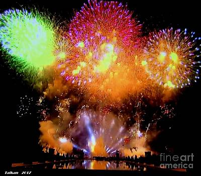 Fireworks On July 14 By Taikan Poster