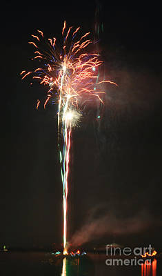 Fireworks On The Lake Poster