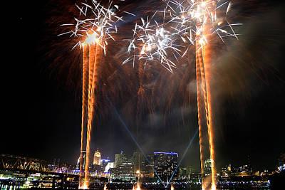 Fireworks Over Cincinnati Poster