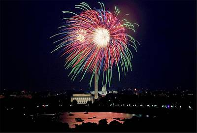 Fireworks Over The Pentagon Poster by FL collection