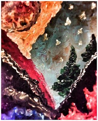 Fiery Mountainside Poster by Ryan Adams