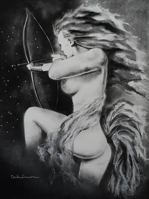 Firey Sagittarius Shooting Stars Poster