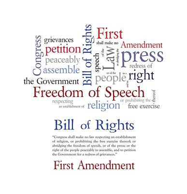 First Amendment Freedom Of Speech Poster by Antique Images