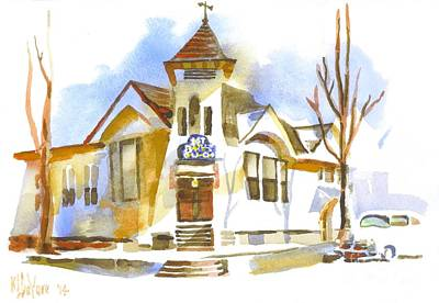 First Baptist Church In Winter Poster by Kip DeVore