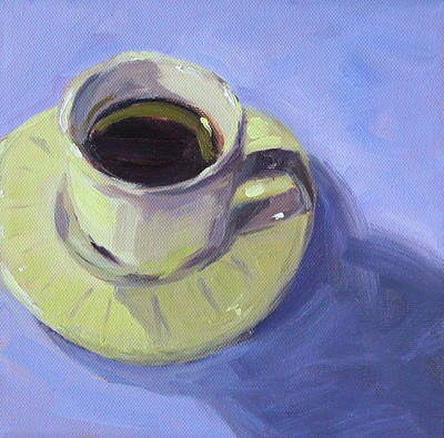 Poster featuring the painting First Cup by Nancy Merkle