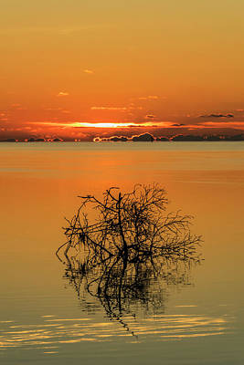 Poster featuring the photograph First Key West Sunrise 2018 B by Bob Slitzan
