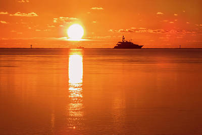 Poster featuring the photograph First Key West Sunrise 2018 C by Bob Slitzan