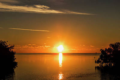 Poster featuring the photograph First Key West Sunrise 2018 D by Bob Slitzan