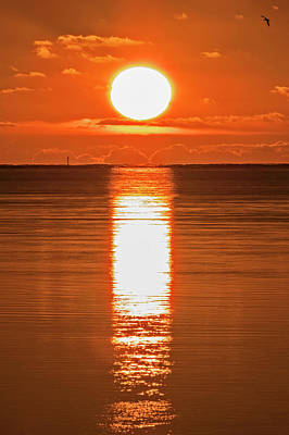 Poster featuring the photograph First Key West Sunrise 2018 F by Bob Slitzan