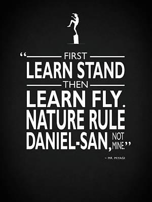 First Learn Stand Poster by Mark Rogan