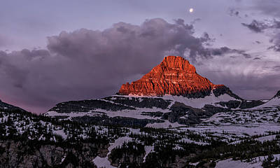 First Light At Logan Pass - Glacier National Park Poster by Loree Johnson