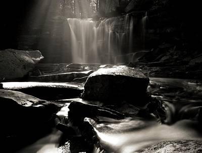 First Light On Elakala Falls Poster by Dan Sproul
