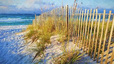 First Light On Navarre Beach Poster by JC Findley
