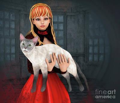 First Love Poster by Jutta Maria Pusl