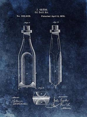 First Oil Drill Bit Patent Poster by Dan Sproul