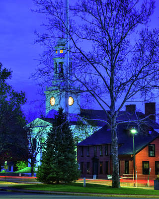 First Parish Church - Concord Ma Poster by Joann Vitali