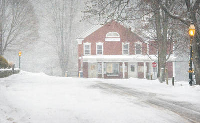 First Snow In Grafton Poster by Bruce Neumann