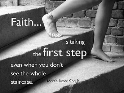 First Step Poster by Barbara Stellwagen