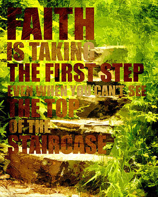 First Step Poster by Bonnie Bruno