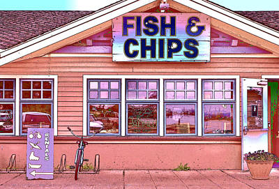 Fish And Chips Poster by Allen Beatty