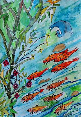 Fish And Flora Poster by Caroline Street