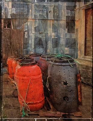 Poster featuring the photograph Fish Barrels by Thom Zehrfeld