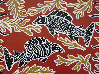 Fish Dreamin Poster by Laura Johnson