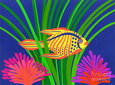 Fish Poster by Lucyna A M Green