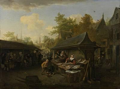 Fish Market, 1683 Poster
