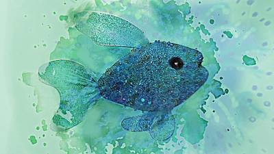 Fish Splash  Poster by ARTography by Pamela Smale Williams