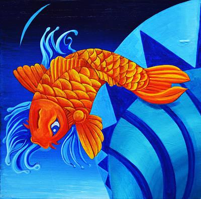 Fish Splash Poster by Stephen Humphries