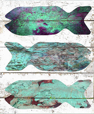 Fish Tales I Poster by Mindy Sommers