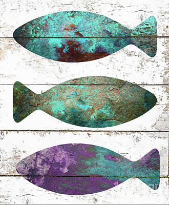 Fish Tales II Poster by Mindy Sommers