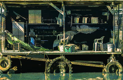 Fisherman S Hut Wooden Makeshift  Poster
