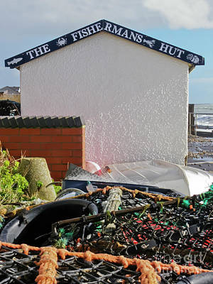 Fishermans Hut, East Wittering Poster
